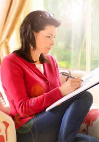Audrey Vance sketching
