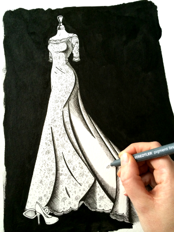 Wedding Dress Ink