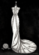 Personalised wedding dress illustrations from Wedding Dress Ink