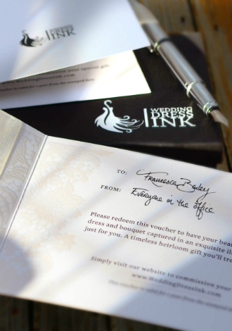 Wedding Dress Ink gift voucher