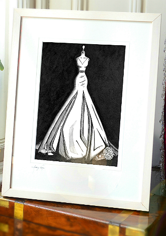 Audreys illustration in a window - cropped gallery ready