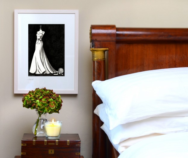 wedding dress illustrations
