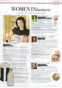 Audrey Vance featured in Irish Tatler for Wedding Dress Ink