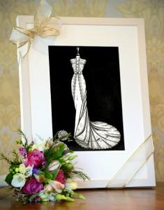 Wedding Dress Illustration - Wedding registry gift ideas