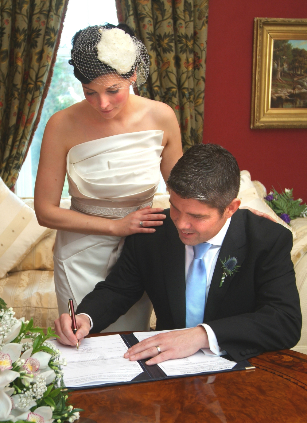 Signing the dotted line... we're married