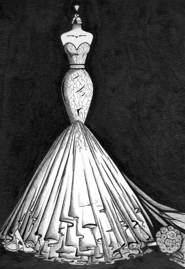 wedding dress illustration