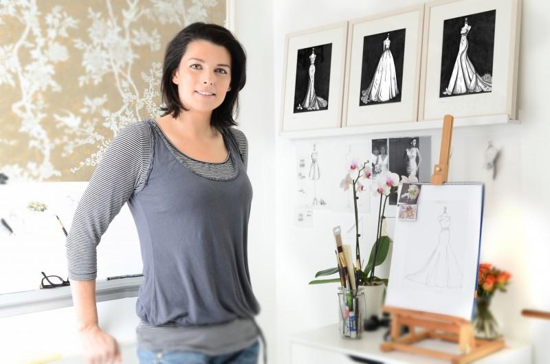 Wedding Dress Ink studio - artist at work