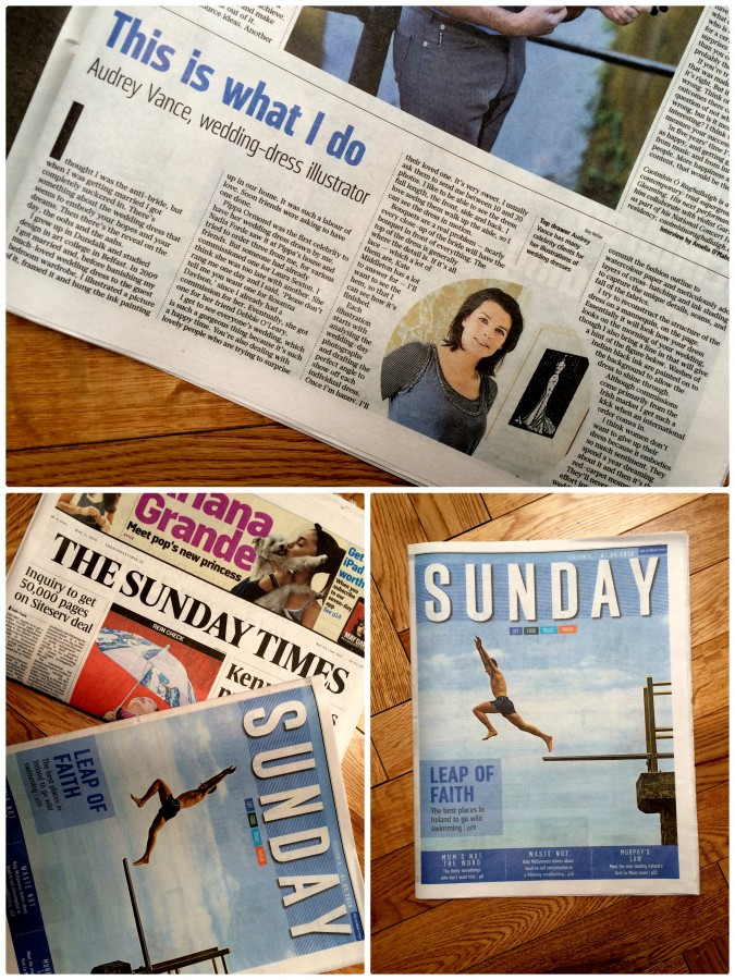 The Sunday Times features Wedding Dress Ink