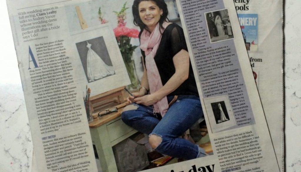 Audrey Vance of Wedding Dress Ink in the Farmer's Journal