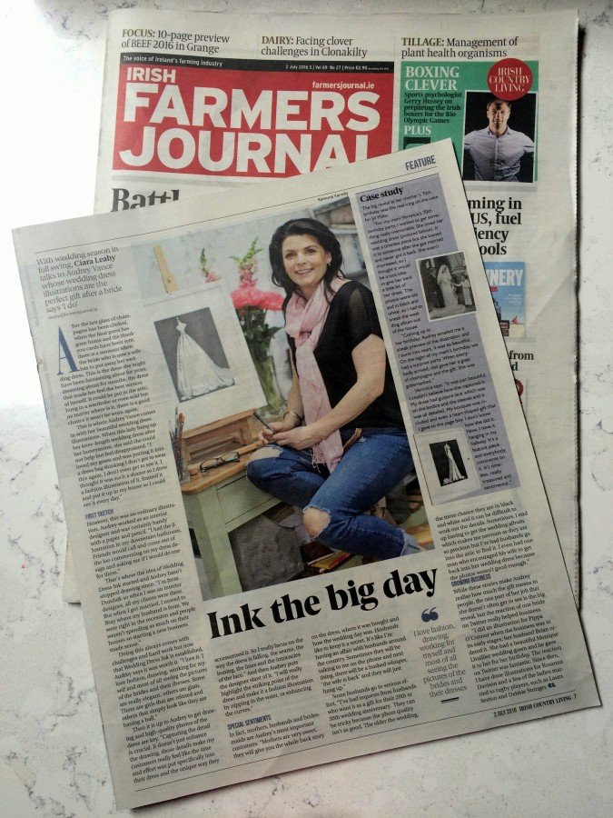 Audrey Vance of Wedding Dress Ink features in the Farmer's Journal