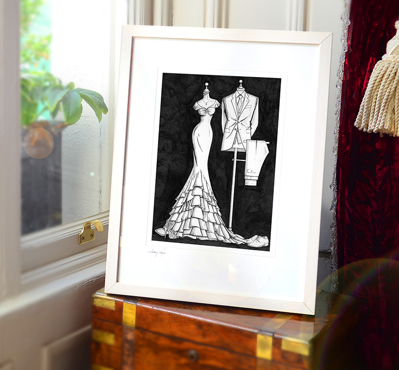 Anniversary gift from Wedding Dress Ink