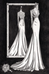 Bespoke_Mirror_View_Painting_by_Wedding_Dress_Ink