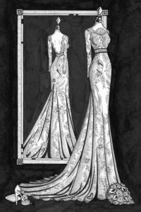 Bespoke_fashion_illustration_of_a_Mirror_View_by_Wedding_Dress_Ink