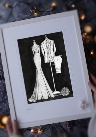 Bride N' Groom Painting