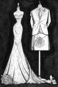 Custom_Bride_and_Groom_Painting_by_Wedding_Dress_Ink