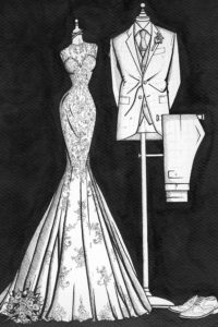 Custom_Bride_and_Groom_Painting_by_Wedding_Dress_Ink_3