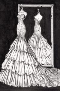 Custom_mirror_View_Illustration_by_Wedding_Dress_Ink
