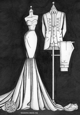 WDI product image Bride n' Groom painting