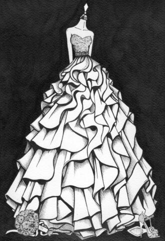Wedding Dress Painting