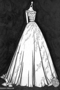 Wedding_Dress_Ink_custom_dress_illustration