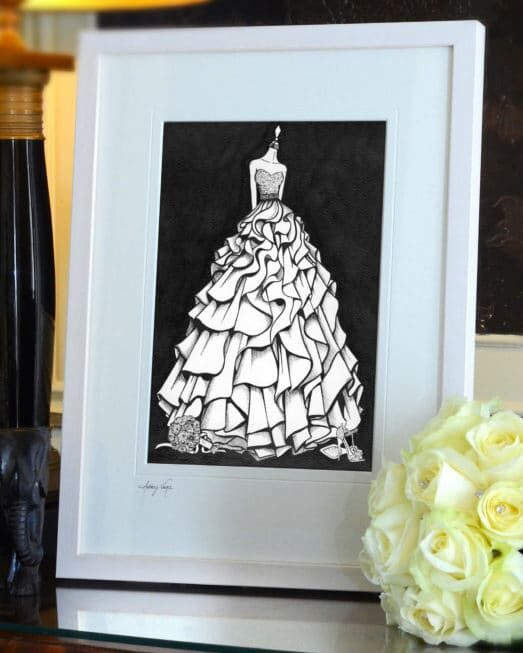 Wedding Dress Painting by Wedding Dress Ink