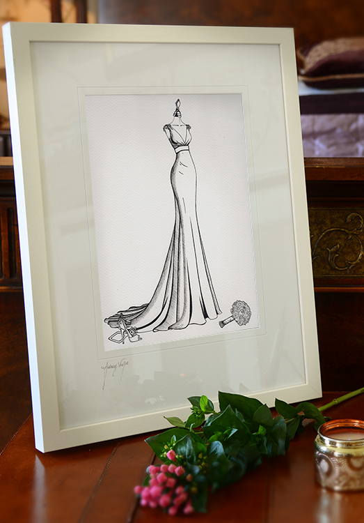 Wedding Dress Sketch - Wedding Dress Ink